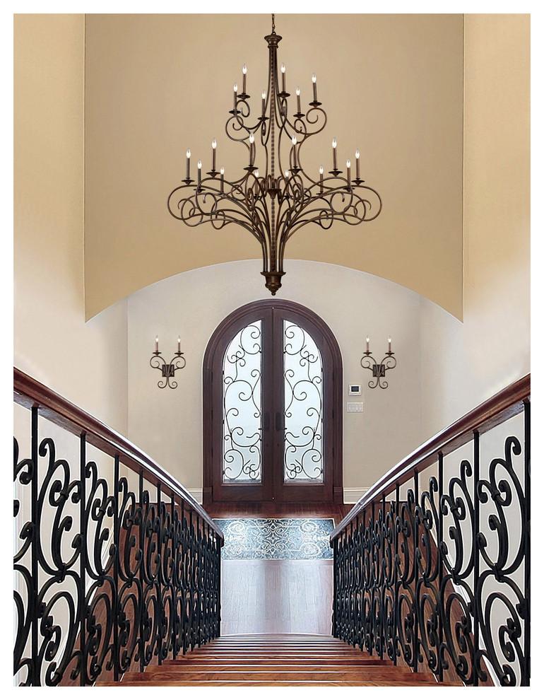 drum-pendant-Entry-Traditional-with-Elk-gloucester-chandelier-elk-gloucester-sconce-foyer-chandelier-foyer-lighting-stairway-lighting